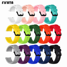 FIFATA Silicone Bracelet For Samsung Gear Sport Smart Watch 42mm Sports Wrist Strap For Xiaomi Huami Amazfit Bip Youtht 20mm(China)