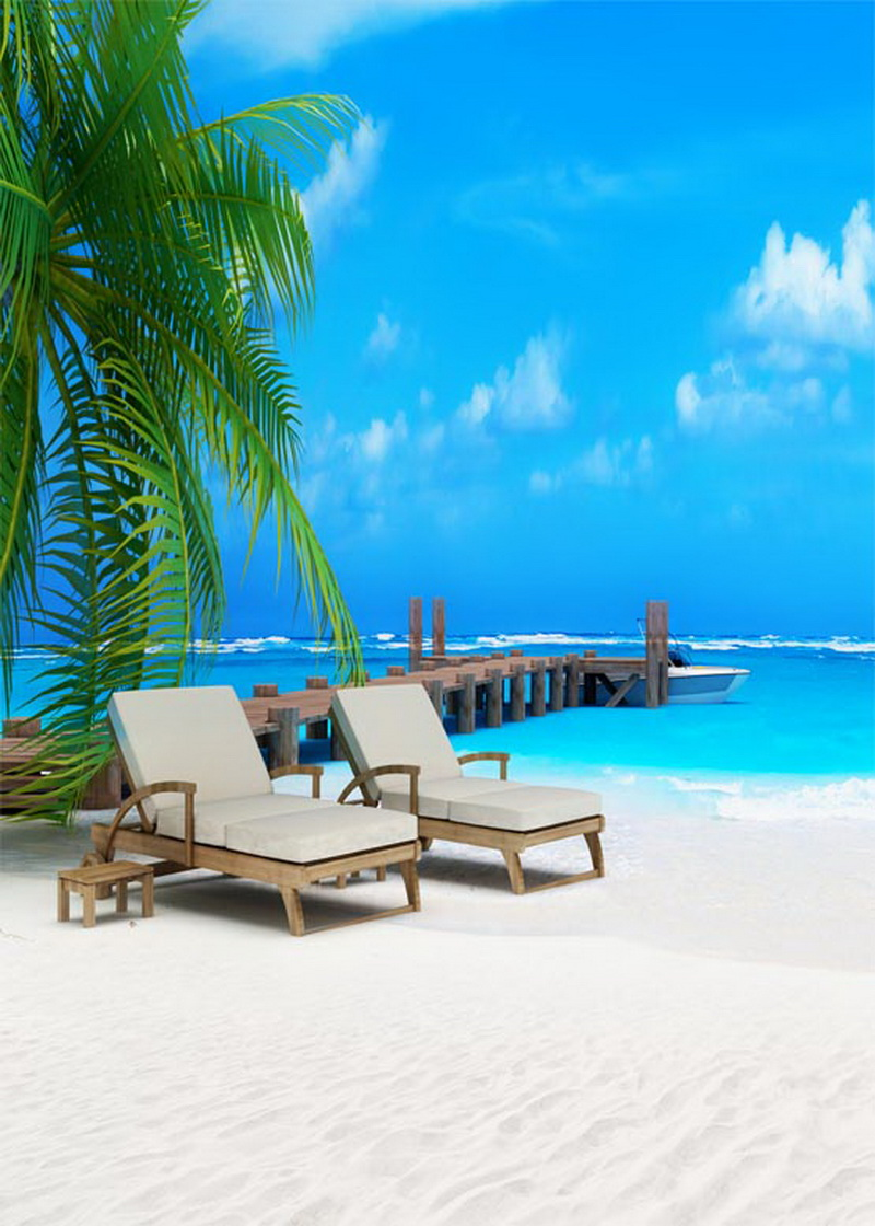 Beach lounger photography background for photo studio portrait vinyl cloth print photographic backdrops S-538