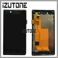 100% Warranty LCD Screen Display with Touch Screen Digitizer Assembly + Frame for Sony for Xperia J/ST26 ST26i ST26a