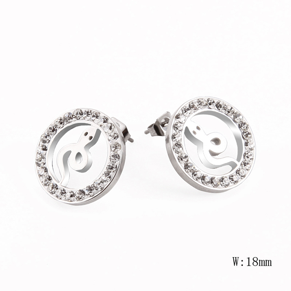 HM-7 Wholesale Fashion Stainless Steel Women Earring Charm Trendy Party Gift Earring Jewelry New Design Women Earring