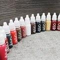 1 Unids tinta Del Tatuaje de Cejas Maquillaje Permanente de pigmento Micro de Larga Duración 15 ml/Bottle 23 Colores Para Elegir