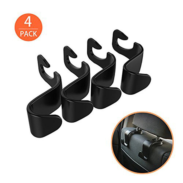 High quality Practical 4 Pcs Car Vehicle Back Seat Headrest Organizer Hanger Storage Hook for Groceries Bag Handbag Durable HOT