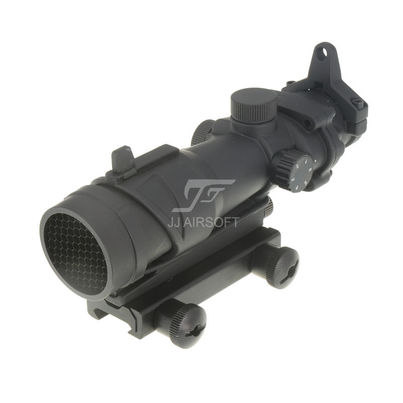 JJ Airsoft ACOG Style 1x32 Red Dot with Killflash / Kill Flash (Black) FREE SHIPPING jj airsoft acog style 4x32 scope with docter mini red dot light sensor black free shipping