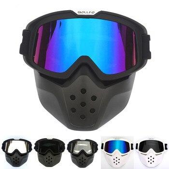 Capacete de moto tiburón Moto rcycle máscara gafas bicicletas moto Cruz gafas a prueba de viento Moto Cruz cascos máscara gafas