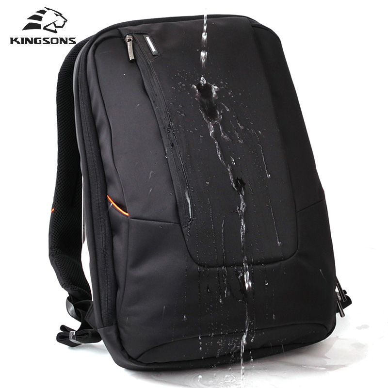 Kingsons Brand Waterproof Men Women Laptop Backpack 15.6 inch Notebook Computer Bag Korean Style School Backpacks KS3019W