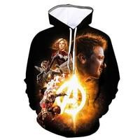 Liumaohua avengers4 endgame Quantum Realm Marvel hoodie men avengers hoodie sweatshirts Long sleeve Fashion men's clothes A2