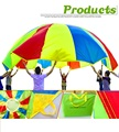 5 м Ребенок Детские Развивающие Игрушки Обучения Сотрудничества Радуга Зонтик Парашют Открытый Спорт