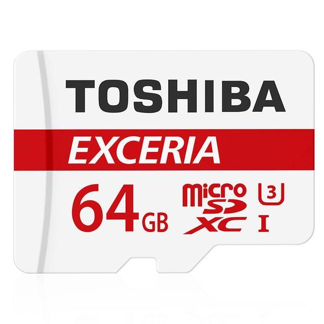 Реальная Емкость Оригинальный TOSHIBA 64 gb 90 МБ/С. U3 microSDXC Карт Памяти Лучший Выбор Для Go Pro 4 К Видео Высокого Качества