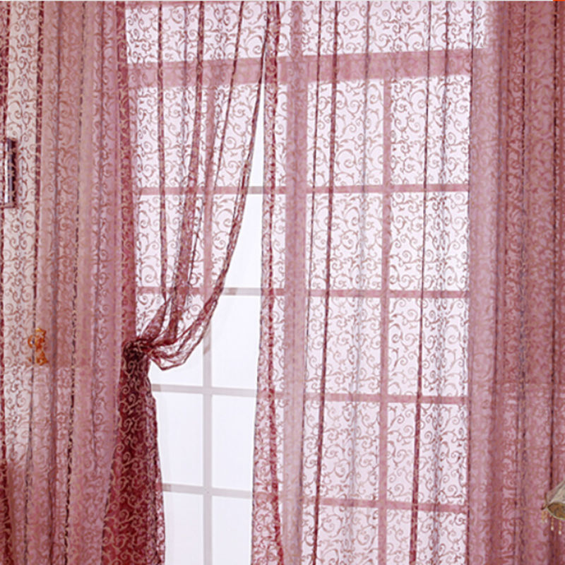 Curtain For Balcony: New Rustic Design Tulle Curtain Fabric For Window Room