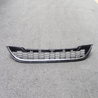 1Pcs Front Lower Bumper Mesh Honeycomb Grille Grill with Chrome for Honda CRV 2010 2011