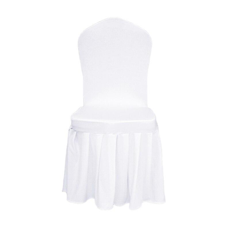 100 stks Puur Wit Geplooide Grote Plint Lycra Stoel Cover Banket Voor - Thuis textiel