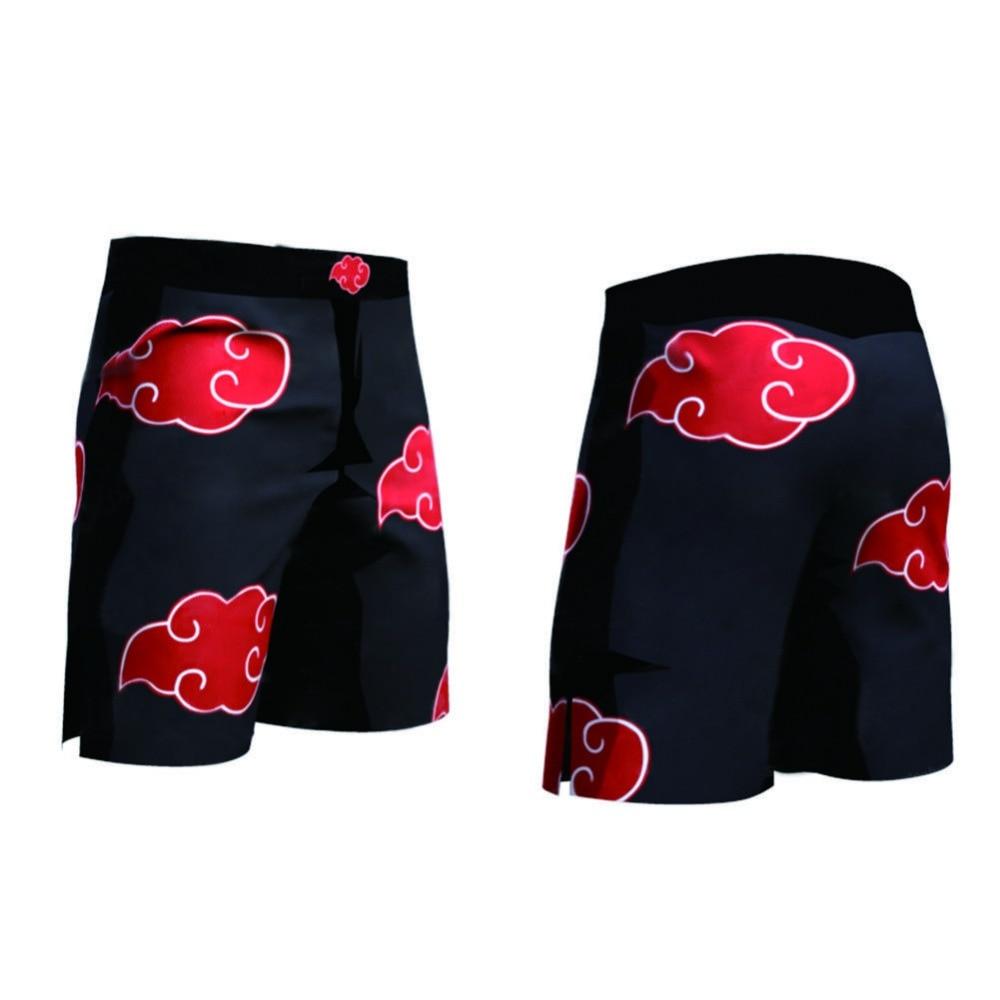 Naruto Red Clouds Shorts