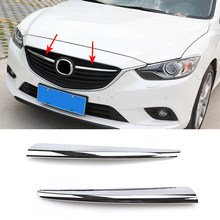 For Mazda 6 Atenza m6 Gj 2014 2015 Chrome Front Center Mesh Grille Grill Cover Trim Radiator Strips Molding Garnish Decoration(China)