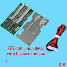 6S 60A версия S lipo литий-полимерная плата защиты батареи BMS/PCM/PCB для 6 батарей 18650 литий-ионная батарея с балансом