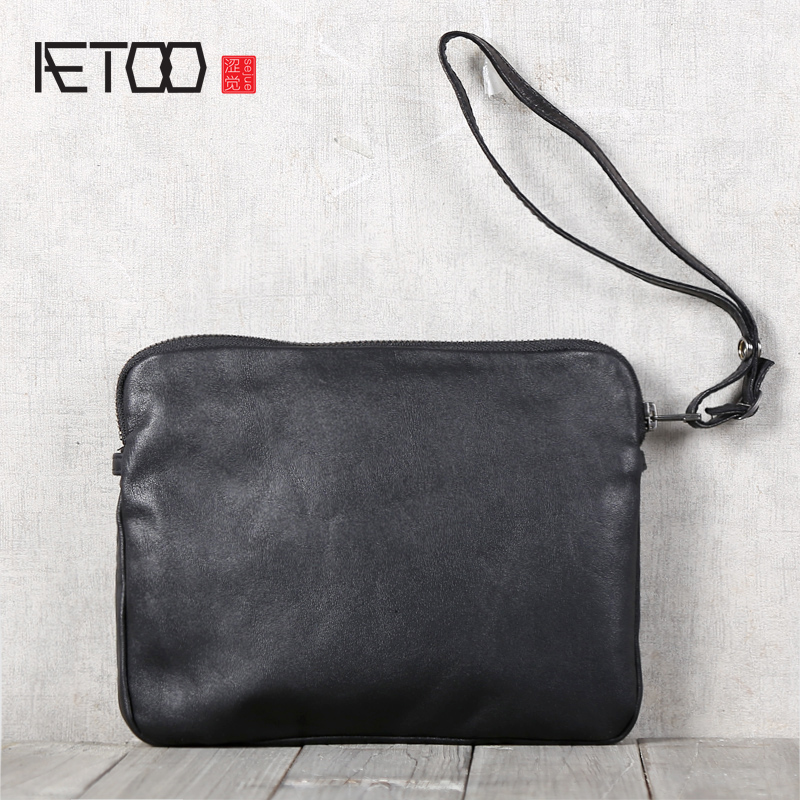 AETOO Men's handmade cowhide handbags with shoulder-shouldered hand bag