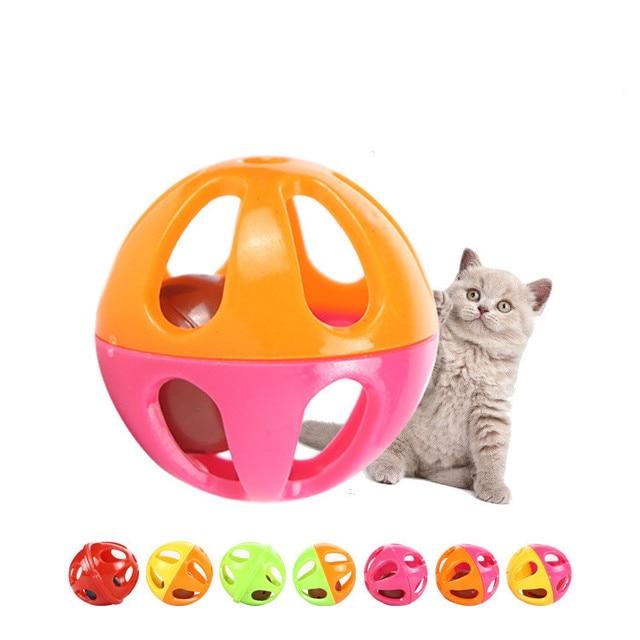 10 pz/set di Plastica Piccolo Gatto Pet Giocattolo Del Suono Giocattoli Del Gatt