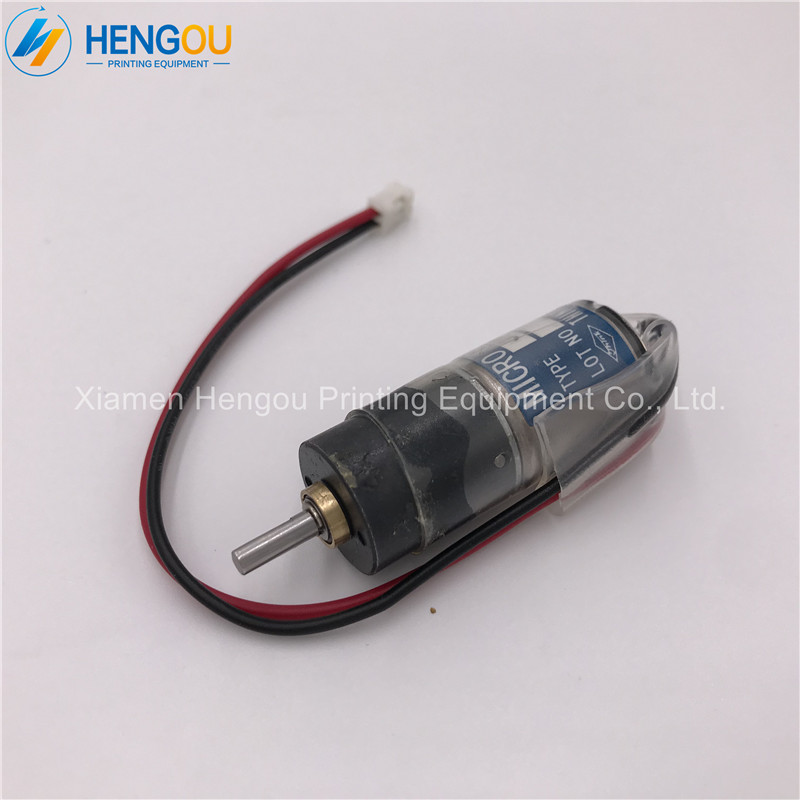 купить 1 Piece free shipping Ryobi motor JP16-12V-62.66 Ryobi ink key motor fountain motor offset printing machine parts по цене 5233.8 рублей