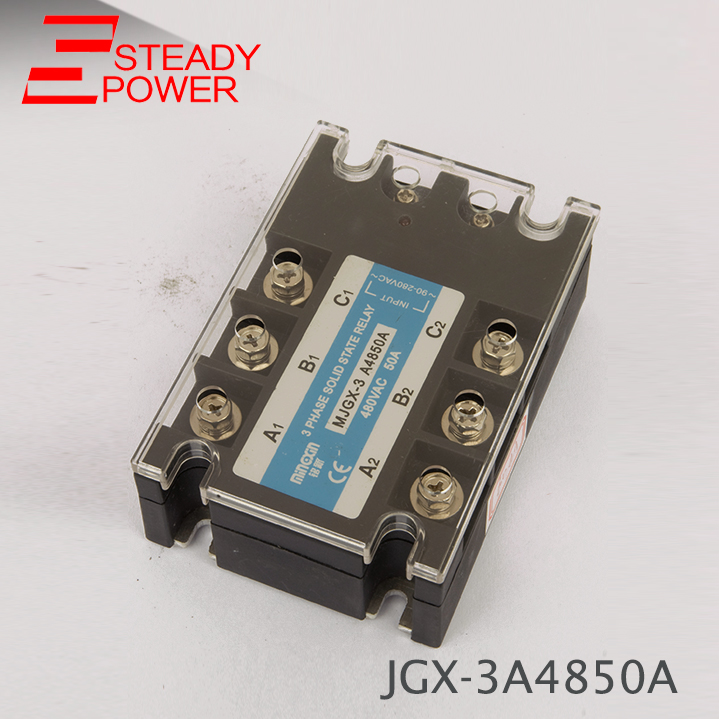 цена на Three Phase Solid State Relay DC Control AC MJGX-3D4850A 50A Actually 3-32VDC TO 24-380VAC SSR 50DA 50AA Solid State Relay