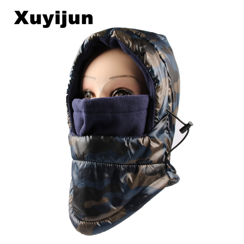 XUYIJUN Double-layer   skullies     beanies   waterproof wool hat Hood bike male collar warm winter collar Balaclava Warm Hats