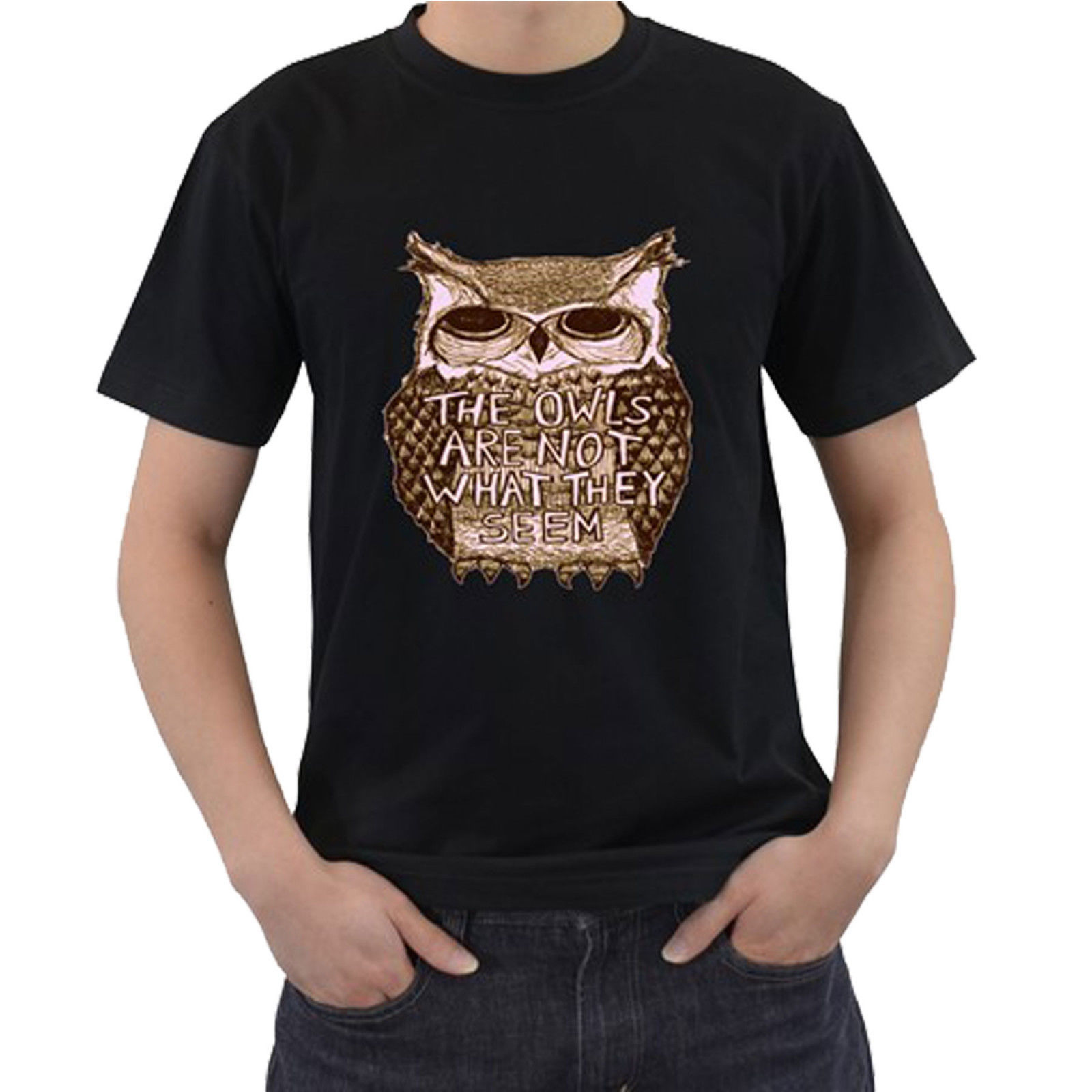 TWIN PEAKS TV Show The Owls Are Not What They Seem Casual Short Sleeve T shirt Novelty