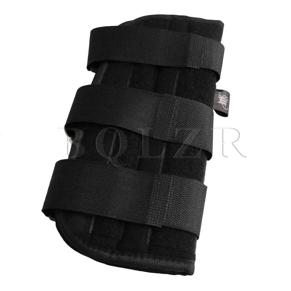BQLZR Black Large Size Adjustable Carpal Tunnel Wrist Brace Splint Support Fixation Corrector for Right Hand