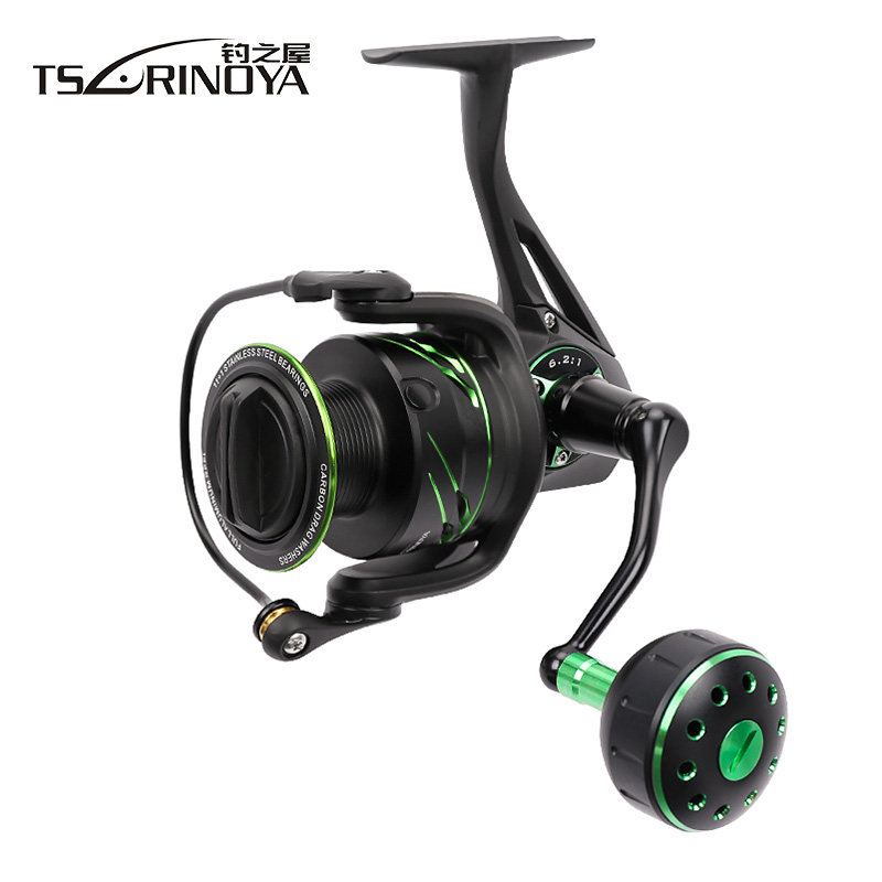 TSURINOYAFIYING SHARK 4000/5000 Spinning Fishing Reel 6.2:1 12BB Max Drag 12kg Fishing Reels Moulinet Peche Carp Reel Hot Wheels seaknight spinning reel cm ii 2000 3000 4000 5000 max drag 13kg 9 1bb 5 5 1 carbon drag spinning fishing reel for carp fishing