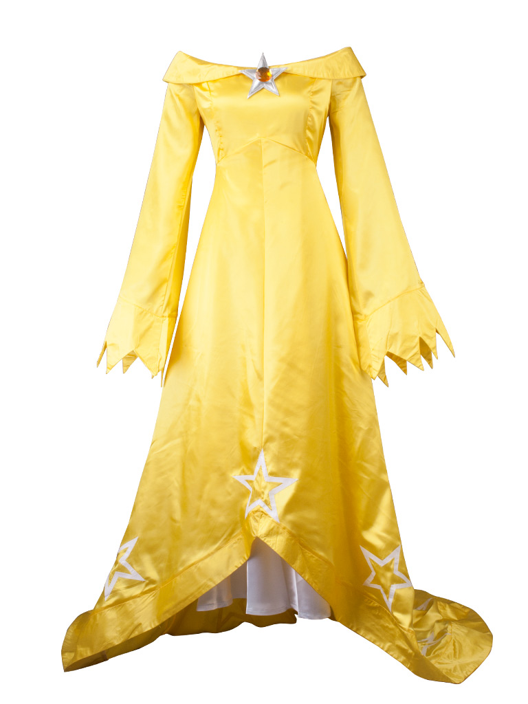Super Mario Galaxy Wii U Rosalina & Luma Light Yellow version Cosplay Costume mp003585