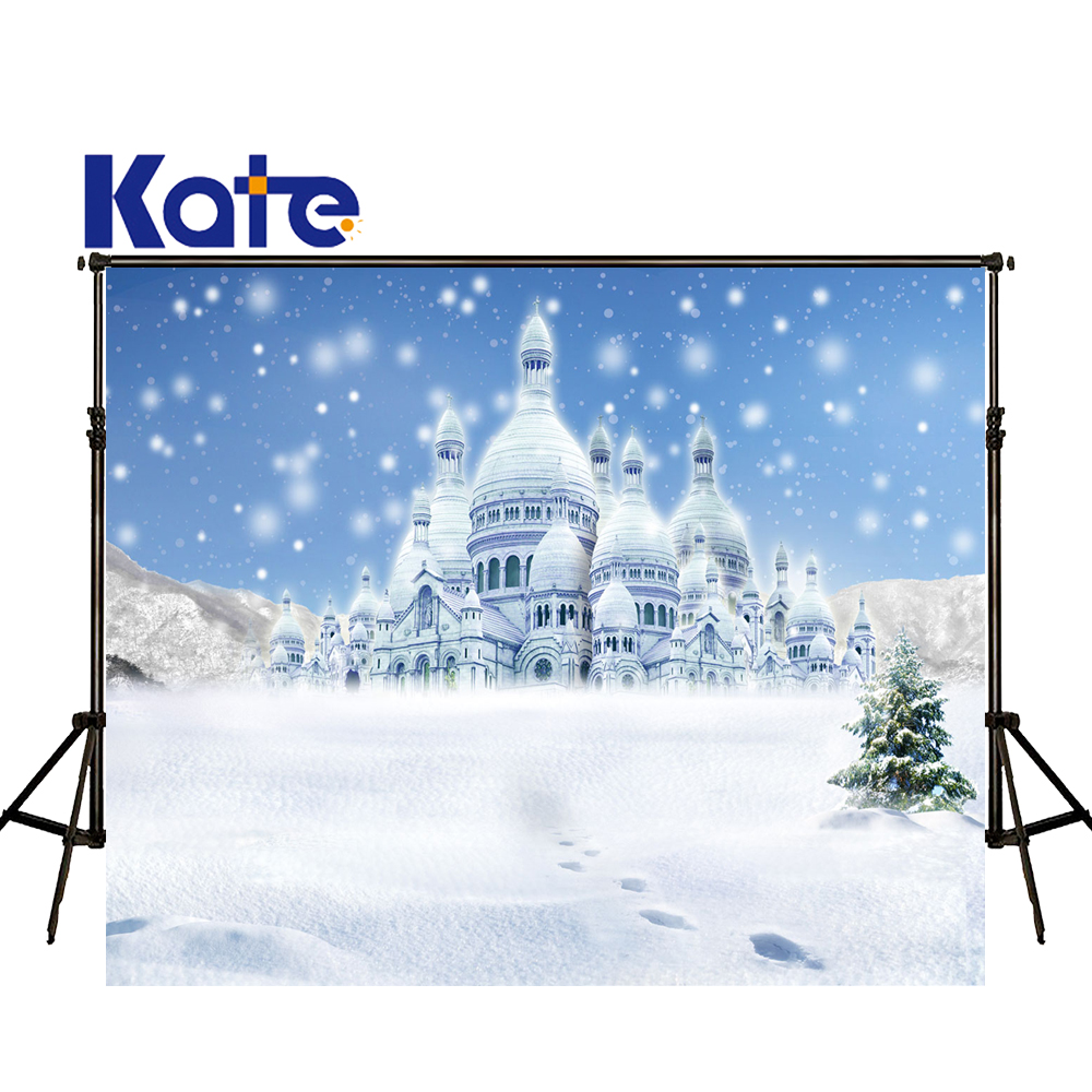 KATE Photography Backdrops Castle Photography Backdrop Photography White Background Winter Snow Fairy Tale Background for S spook s slither s tale