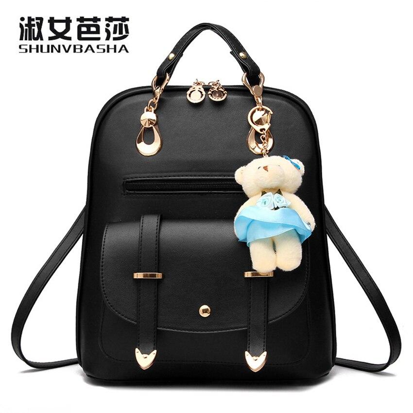 Shunvbasha женские рюкзаки, модная школьная сумка для девочек-подростков высокое качество из искусственной кожи водонепроницаемые цепи рюкзак …