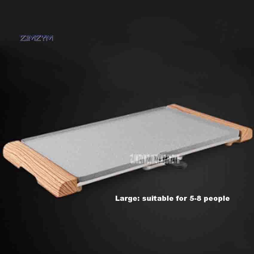 New Electric Grill JP-52 Household Smokeless Teppanyaki Non-stick Pan Barbecue Machine 220V 1500W For 5-9 People Hot Sale plywood