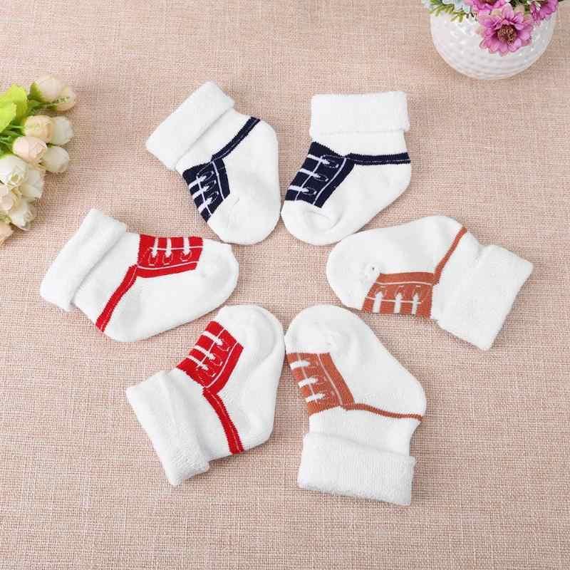 Precioso Otoño Invierno Calcetines bebé caliente niños de dibujos animados lindo calcetines bebé recién nacido bebé suave de algodón bebé niñas Calcetines
