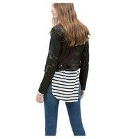 Slim סתיו האופנה של נשים הלבשה עליונה רוכסן סגנון חדש מעילי עור PU קטר דש מעיל נשי שרוול ארוך Bodycon C