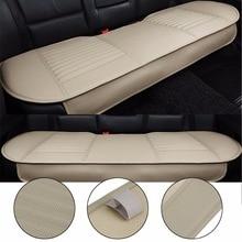 Чехол для заднего сиденья автомобиля, Универсальный Коврик для автомобильного сиденья, дышащий нескользящий коврик для заднего сиденья из искусственной кожи