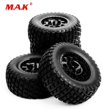 Short Course Truck Tires and Wheel Rims with 12mm Hex fit 1:10 Scale RC Truck Car Model Toys Accessories 1 10 rc scale truck climbing car hard body shell for wrangler jeep model toys accessories