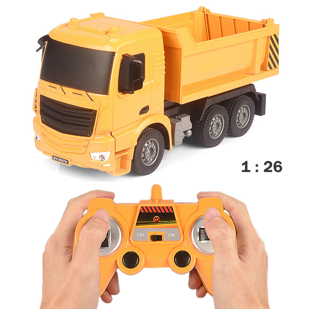 RC Truck Big Dump Truck Electric Engineering Machine Radio Controlled Construction Toy Car With Battery childred 1 32 detachable kids electric big rc container truck boy model car remote control radio truck toy with sound