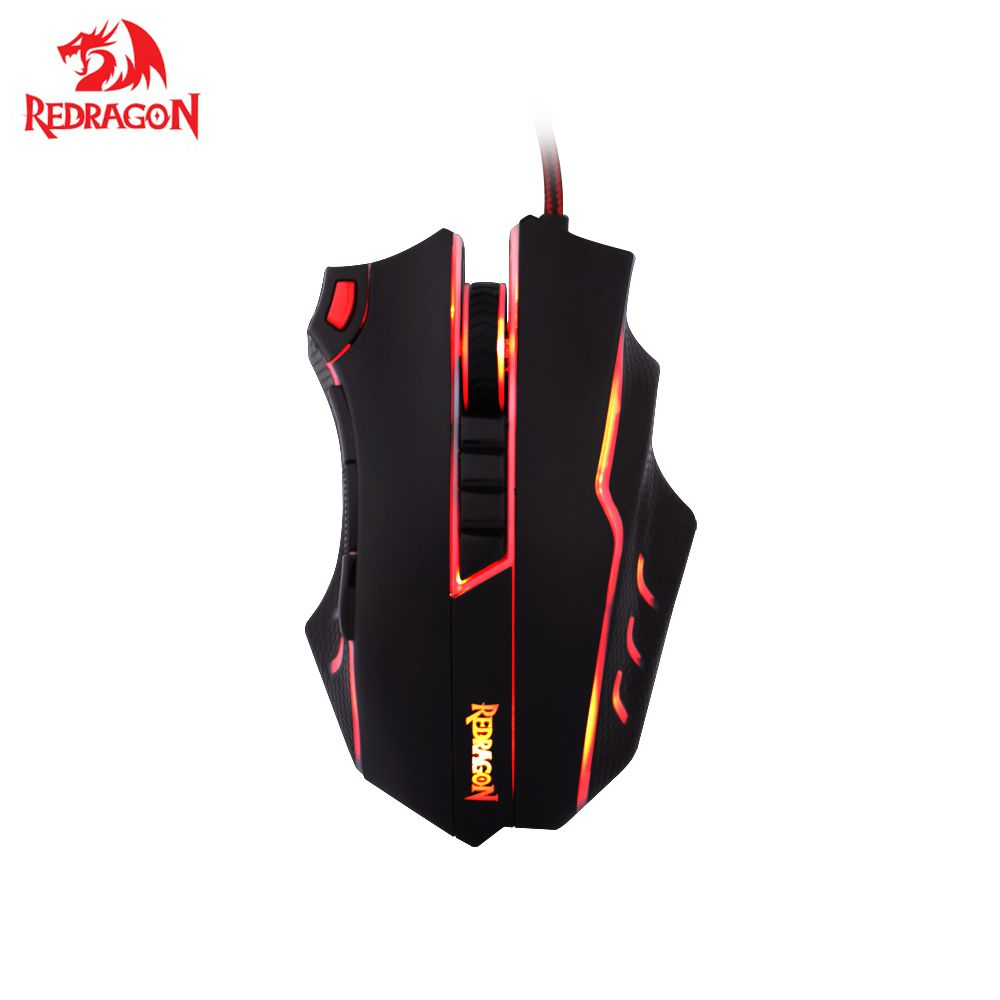 Redragon M802 TITANOBO 24000 DPI Programmable Buttons Laser Gaming Mouse Ergonomic Design For Gamer Computer Desktop