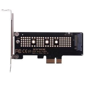 Image 1 - NVMe PCIe M.2 NGFF SSD כדי PCIe x1 מתאם כרטיס PCIe x1 כדי M.2 כרטיס עם סוגר