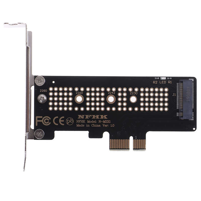 NVMe PCIe M.2 NGFF SSD vers PCIe x1 carte adaptateur PCIe x1 vers M.2 carte avec support