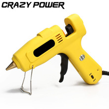 CRAZY POWER 60W/100W Dual Power Electric Heating High Temp Heater Hot Melt Glue Gun Practical Heating Craft Repair Tools