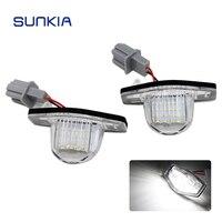 2pcs Set SUNKIA 12V DC Car LED License Plate Light Lamp Canbus For For Honda Odyssey