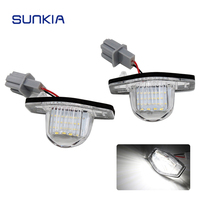 2pcs Set SUNKIA 12V DC Car LED License Plate Light Lamp Canbus For For Honda Odyssey