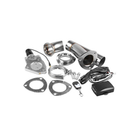 2.25 2.5 3 Electric Stainless Exhaust Cutout Cut Out Dump Valve/Switch Remote Control Car Tail Throat Modification Kit
