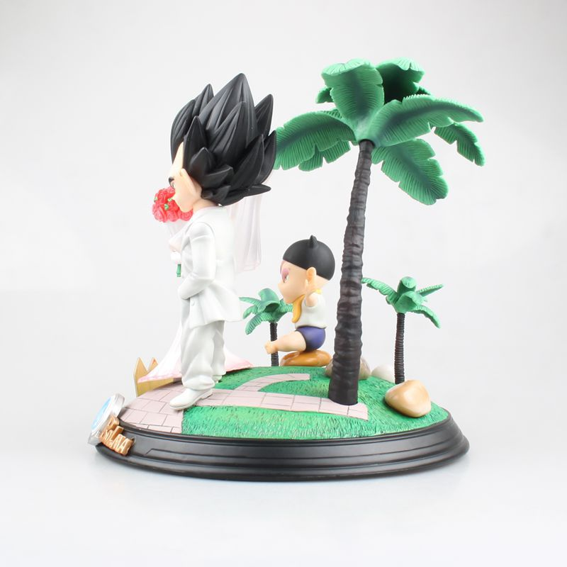 Комиксы Аниме Супер Saiyan принц Вегета Bulma Свадьба День бурума трусы Дракон шар сцена фигурка игрушки лучший подарок - 4