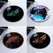 Babaite Background Pattern Soft Non-Skid Circular Mousepad The Legend of Zelda Eagles Logos Round Customized Mouse Pad
