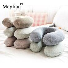 Memory Foam Pillow U Shape Pillow Neck Travel Rest Cushion Stripe Massage Comfortable Sleeping Easy-Taking Cartoon Pillows p128