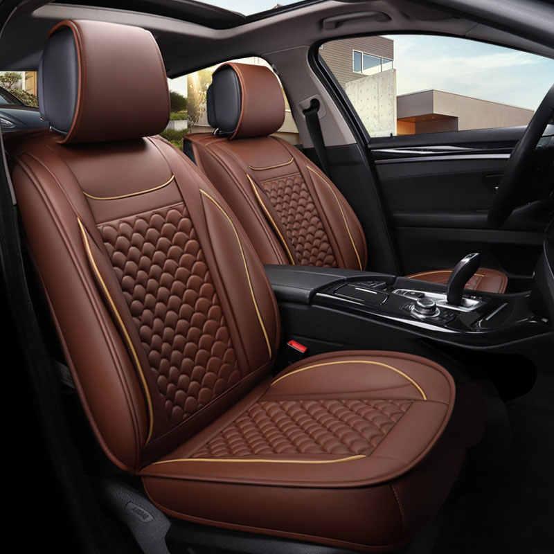 Asiento de cuero de coche cubiertas protector de asiento de auto cojín para citroen berlingo c elysee c2 c3 grand c4 picasso pallas c4l c5 ds5 xsara