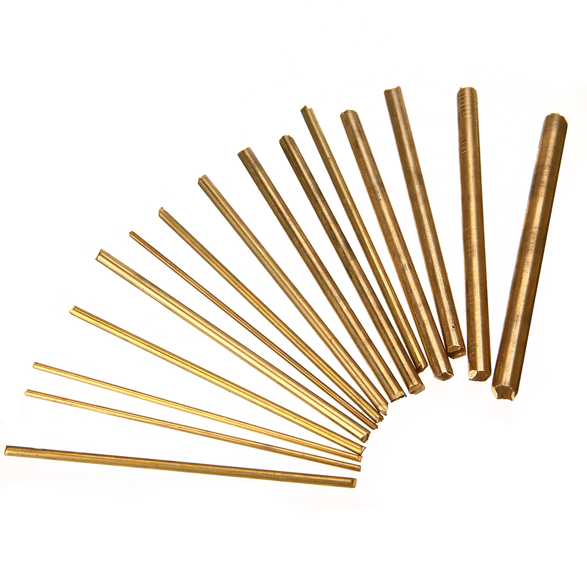 15pcs Copper Brass Round Rods Shafts Bar Watchmaker Lathe Watch Tool Craft Parts Mayitr For DIY Craft Making 100mm Length thumb brass maple blackwood convex bottom planes violin making woodworking tool luthiertools craft plane