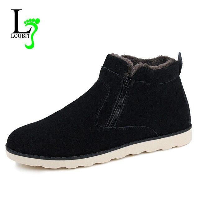 Мужские ботинки с мехом, 2018 зимние ботинки, Мужская Уличная обувь, Теплая мужская  обувь df745affee2
