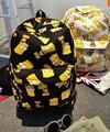 2017 new women canvas printing backpack fashion shoulder bag casual schoolbags mochila Men's backpacks Graffiti unisex rucksack