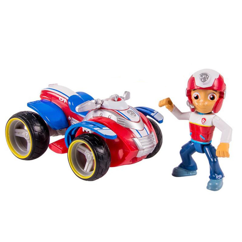 Paw Patrol dog Ryder's Rescue car Vehicle and Figure figure toy Puppy Dog Patrol Car patrulla Patrulla Kids Toys Dog Genuine
